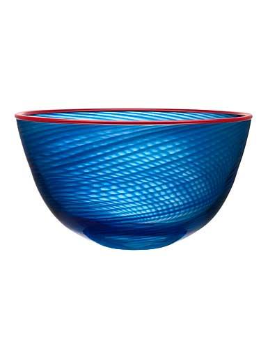 """Kosta Boda Red Rim 15 3/4"""" Bowl"""