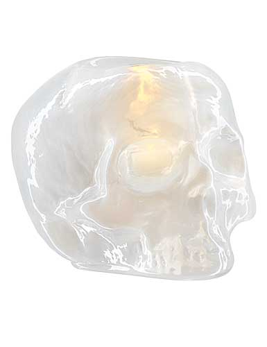 Kosta Boda Still Life Skull Votive, Pearl
