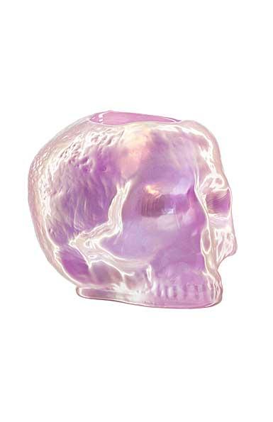 Kosta Boda Still Life Skull Votive, Light Pink