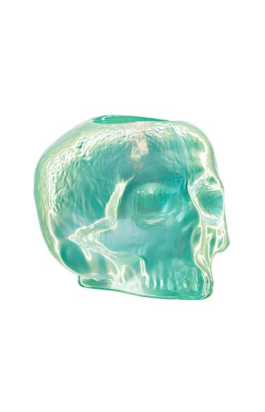 Kosta Boda Still Life Skull Votive, Light Green