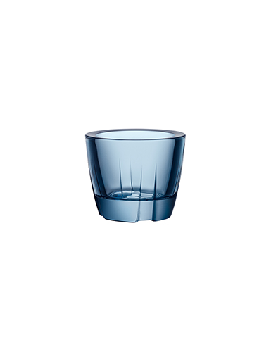 Kosta Boda Bruk Votive Water Blue Anything Bowl, Pair