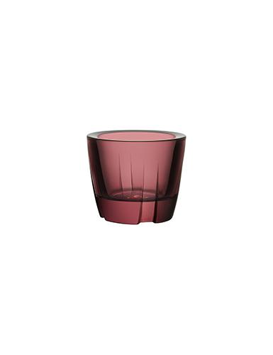 Kosta Boda Bruk Votive Aubergine Purple Anything Bowl, Pair