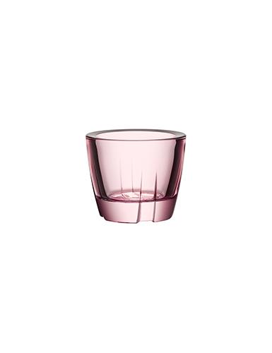 Kosta Boda Bruk Votive Light Pink Anything Bowl, Pair
