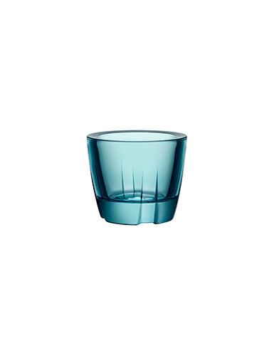 Kosta Boda Bruk Votive Sea Turquoise Anything Bowl, Pair