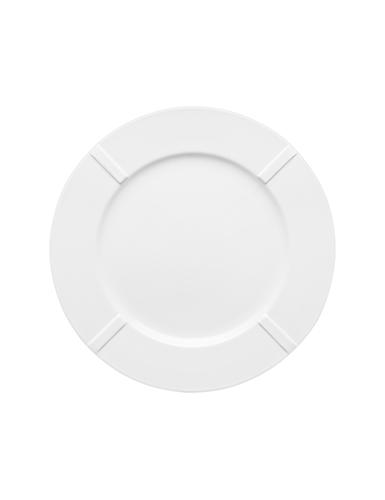 Kosta Boda Bruk White Porcelain Plate, Set of Four