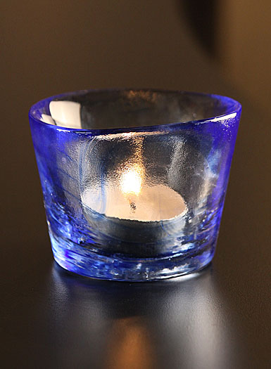 Kosta Boda Mine Votive, Blue