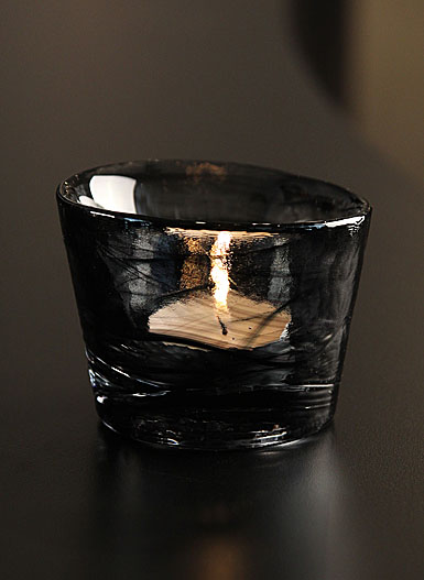 Kosta Boda Mine Votive, Black