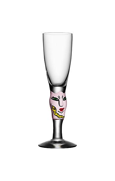 Kosta Boda Open Minds Shot Glass, Pink, Single