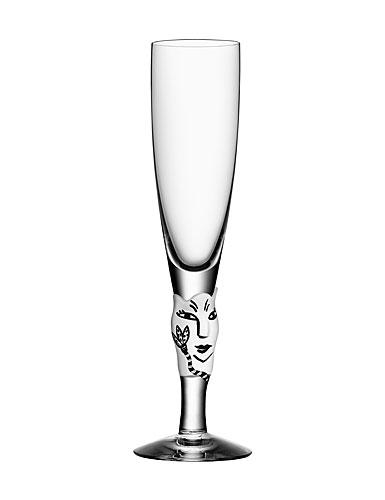 Kosta Boda Open Minds Champagne, White, Single
