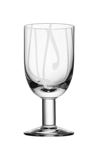 Kosta Boda Contrast Wine Glass, White