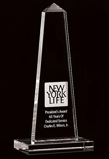 Crystal Blanc, Personalize! Obelisk Award, Small