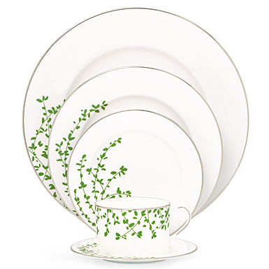 Lenox China kate spade Gardner Street Platinum, 5 Piece Place Setting