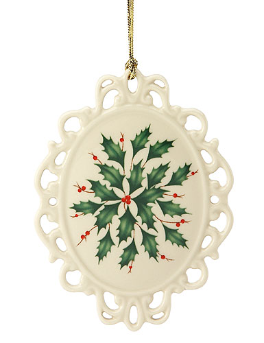 Lenox Holiday Cameo Ornament