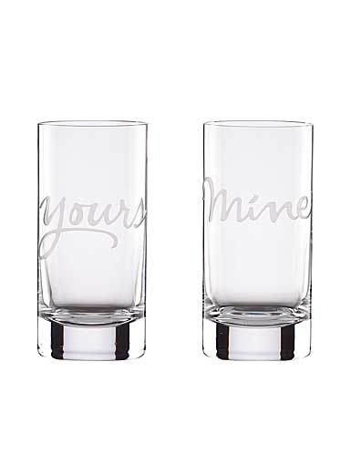 Lenox kate spade Two of A Kind Mine and Yours Hiball, Set of 2