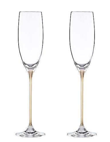 Donna Karan Lenox Illumination Gold Flute Pair