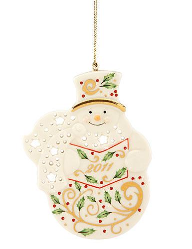 Lenox 2011 Joyous Tidings Snowman Ornament
