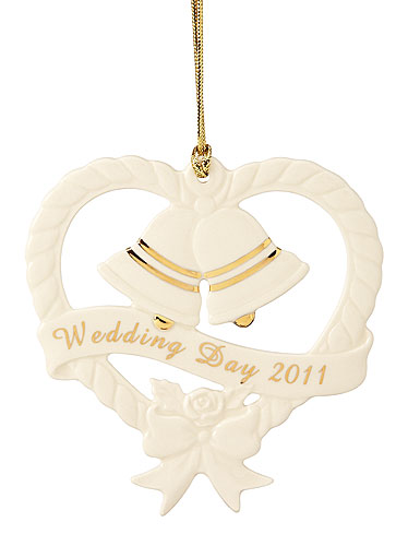 Lenox wedding ornament