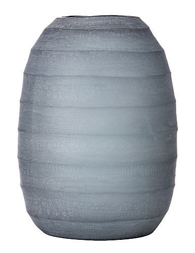 Lenox Donna Karan Artisan Glass, Glacier, Carved Large Vase