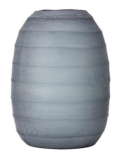 Donna Karan Lenox Artisan Glass, Glacier, Carved  Vase