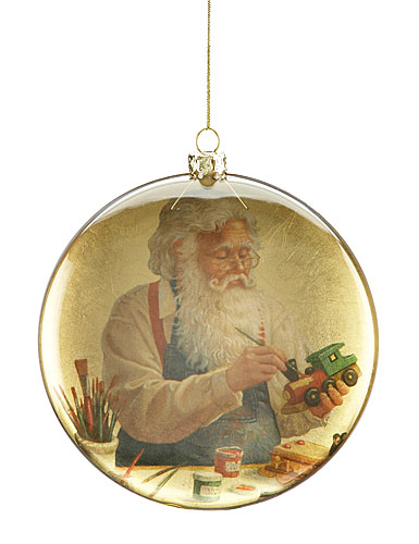 Lenox Decoupage Santa Ornament