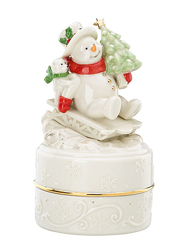 Lenox Winter's Wonder Musical Snowman Keepsake Box