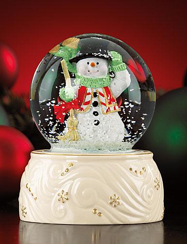 Lenox Snowman Snow Globe