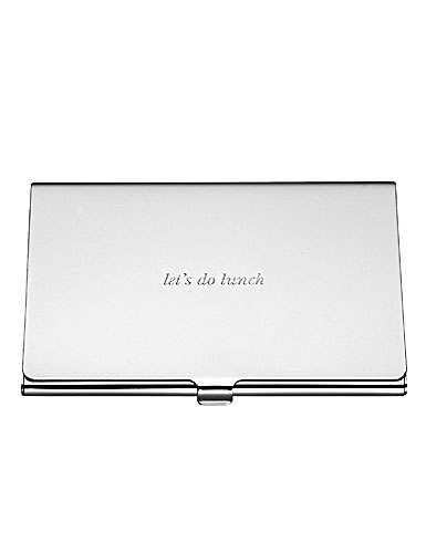 kate spade new york by Lenox Silver Street Lets Do Lunch Business Card Holder