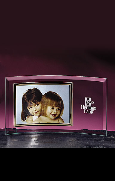 """Crystal Blanc, Personalize! Horizontal 8x10"""" Picture Frame"""