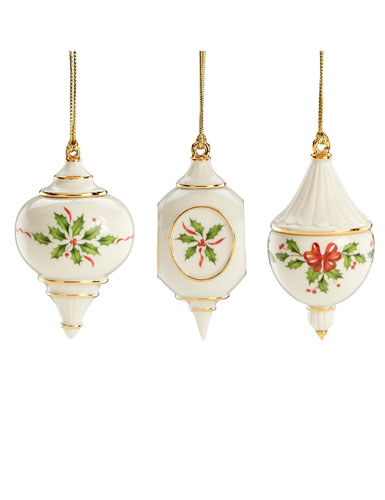 Lenox holiday traditions ornaments set of
