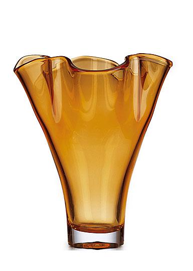 Lenox Organics Ruffle Centerpiece Vase, Amber