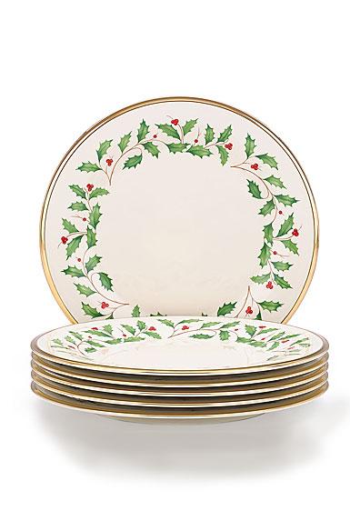 Lenox Holiday Dinner Plate, Set of 6
