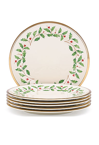 Lenox Holiday Salad Plate, Set of 6