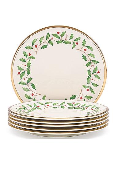 Lenox Holiday Salad Plate, Set of 6