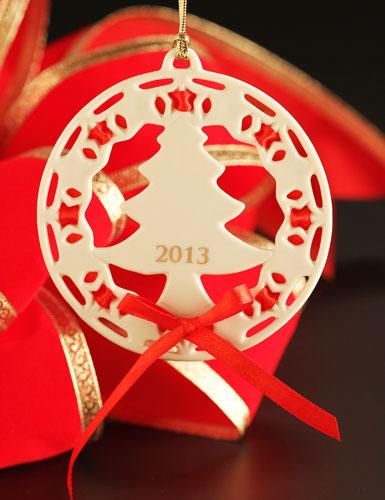 Lenox Christmas Wrappings Christmas Tree 2013 Ornament