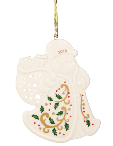 Lenox Joyous Tidings Holiday Santa 2013 Ornament