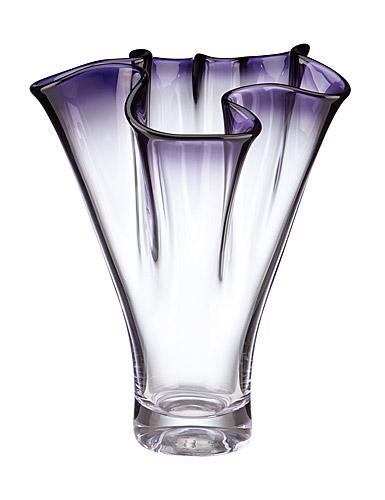 "Lenox Organics Ruffle Purple 12"" Vase"