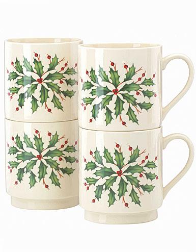 Lenox Holiday Stackable Mug, Set of 4