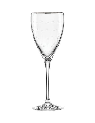 Lenox kate spade New York Larabee Dot Platinum Goblet, Single