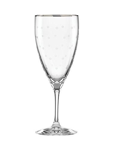 Lenox kate spade New York Larabee Dot Platinum Iced Beverage, Single