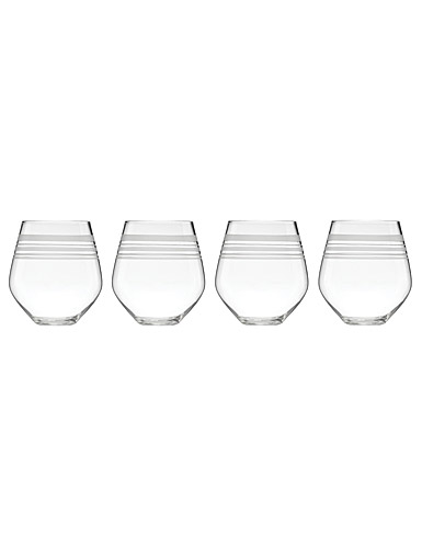Lenox kate spade New York Library Stripe Stemless Red Wine, Set of 4