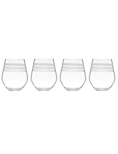 Lenox kate spade New York Library Stripe Stemless White Wine, Set of 4