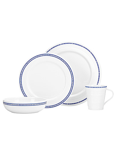 Lenox Tin Can Alley Navy, 4 Piece Place Setting