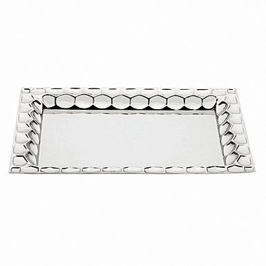 Monique Lhuillier Waterford Atelier Metal Rectangular Tray, 16""