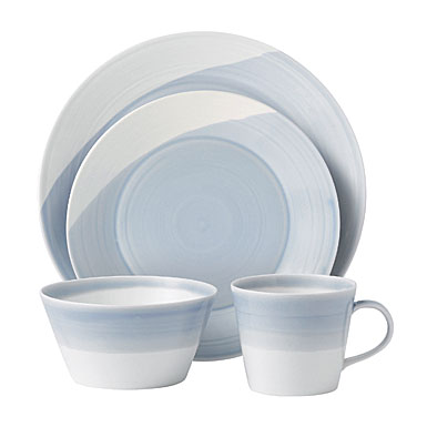 Royal Doulton China 1815 Casual Dinnerware, Blue - 4 Piece Place Setting