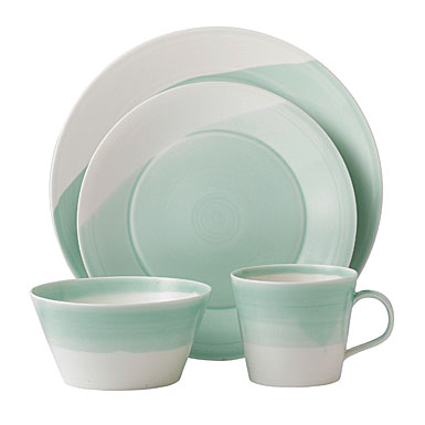 Royal Doulton China 1815 Casual Dinnerware, Green - 4 Piece Place Setting