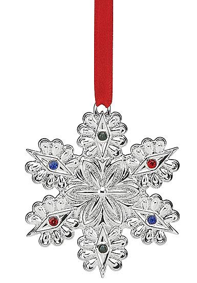 Lenox Jeweled Silver Snowflake 2017 Ornament