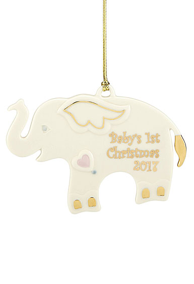 Lenox Annual 2017 Baby's First Christmas Elephant Ornament