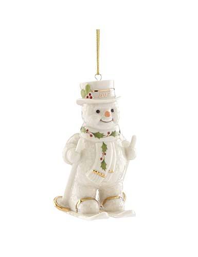 Lenox Annual 2017 Happy Holly Days Fresh Powder Snowman Ornament
