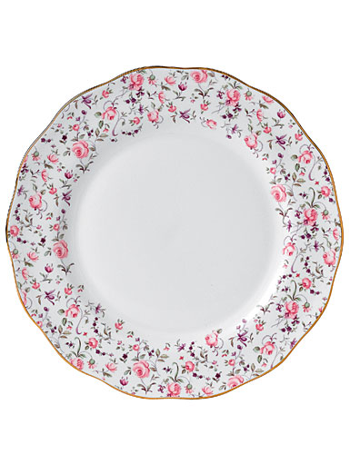 Royal Albert New Country Roses Rose Confetti Vintage Formal 10 3/5 in Dinner Plate