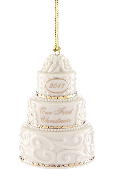 Lenox Annual 2017 Our 1st Christmas Together Cake Ornament